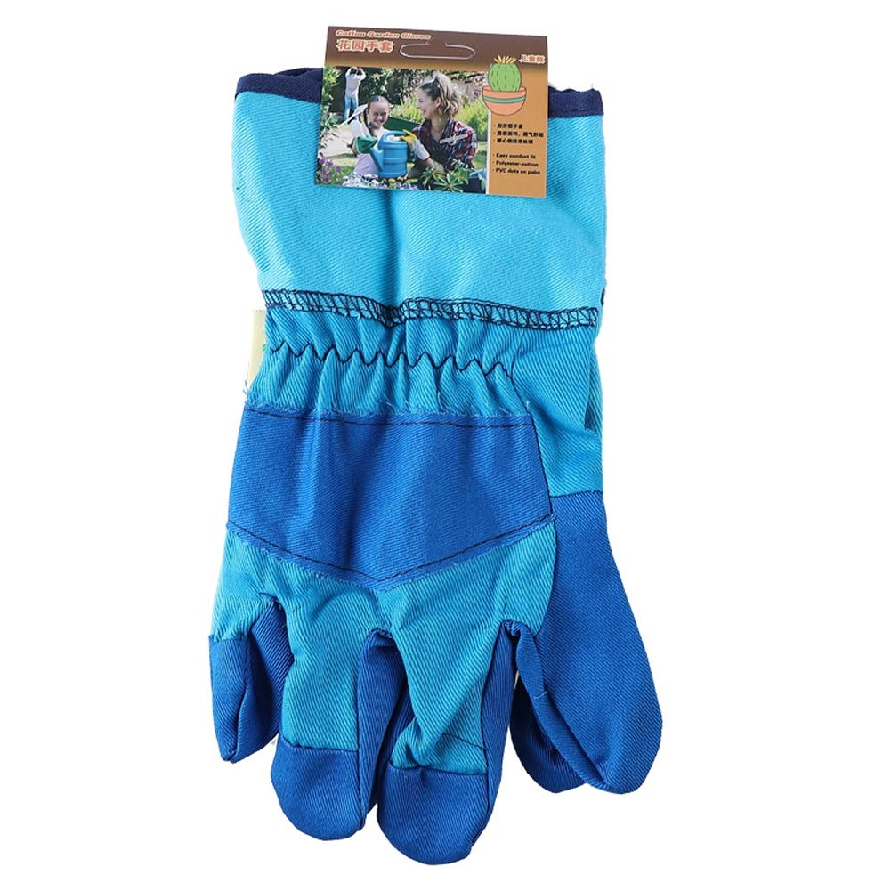Xgxyklo Children Gardening Planting Gloves, Anti-Cutting Wear-Resistant Breathable Thickening Protective Gloves,Blue,10Pair by Xgxyklo (Image #3)