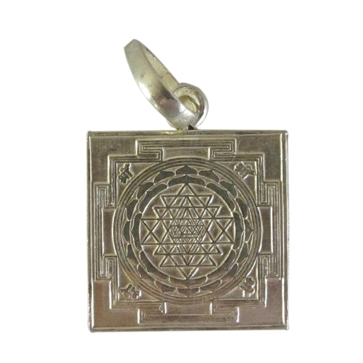 Buy galaxy gems ethnic silver shree yantra silver pendant for buy galaxy gems ethnic silver shree yantra silver pendant for unisex ssyp117 online at low prices in india amazon jewellery store amazon mozeypictures Images