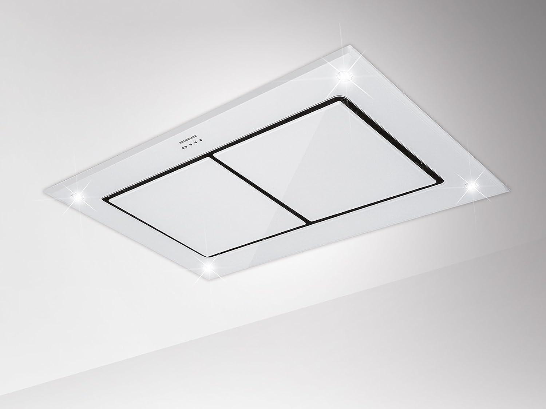 Silverline Asterion Intern Premium 1200 m³/h De techo Blanco - Campana (1200 m³/h, Canalizado, 39 dB, De techo, Blanco, Vidrio): Amazon.es: Hogar