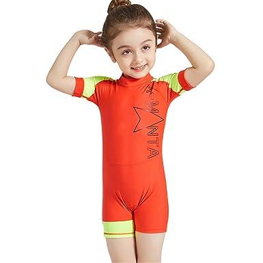 8743594a1e Kids One Piece Wetsuit Swimsuit - Boys Girls Swimwear Short Sleeve ...