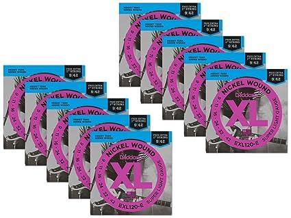 D Addario exl120-e Bonus Pack: Super Light – Cuerdas para guitarra eléctrica