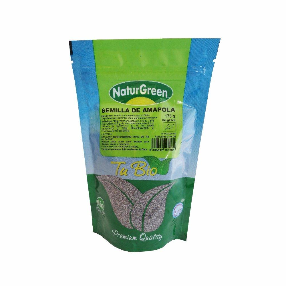 NaturGreen Semilla de Amapola Bio 175g: Amazon.es: Alimentación y ...