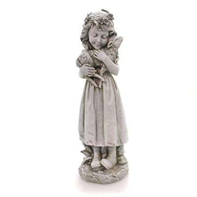 """Joseph's Studio Roman - 16"""" H Garden Angel with Lamb : Garden & Outdoor"""