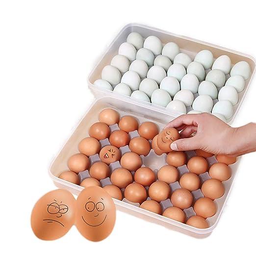 TOOGOO Caja Clara de huevos de 34 Cuadricula con Una sola capa ...