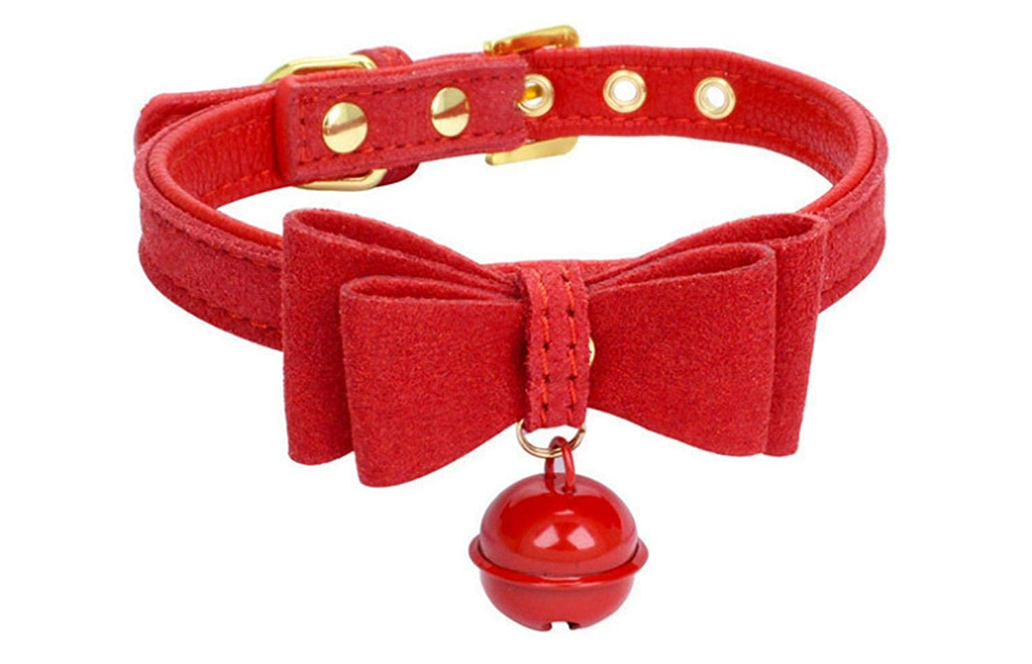 Una Dom DDLG//ABDL Bow Collar Cat Cosplay Kitty Velvet Leather Collar