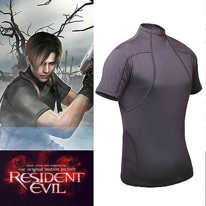 Mxnpolar Resident Evil 4 Biohazard Leon Kennedy Grey Tee T Shirt