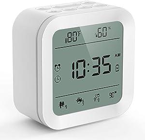 Updated White Noise Machine, COCOBELA Sound Machine for Sleeping, 27 HiFi Sounds, Alarm Clock (Regular&Military Time), Night Light, Temp & Humidity, Portable Sleep Machine for Home,Office,Travel