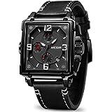 MEGIR Men's Analogue Army Military Chronograph Luminous Quartz Watch with Fashion Leather Strap for Sport & Business…