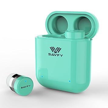 1c150ff023d SAVFY True Wireless Earbuds Bluetooth Earphones - [UPGRADED] Bluetooth 5.0  Mini Stereo Headphones With