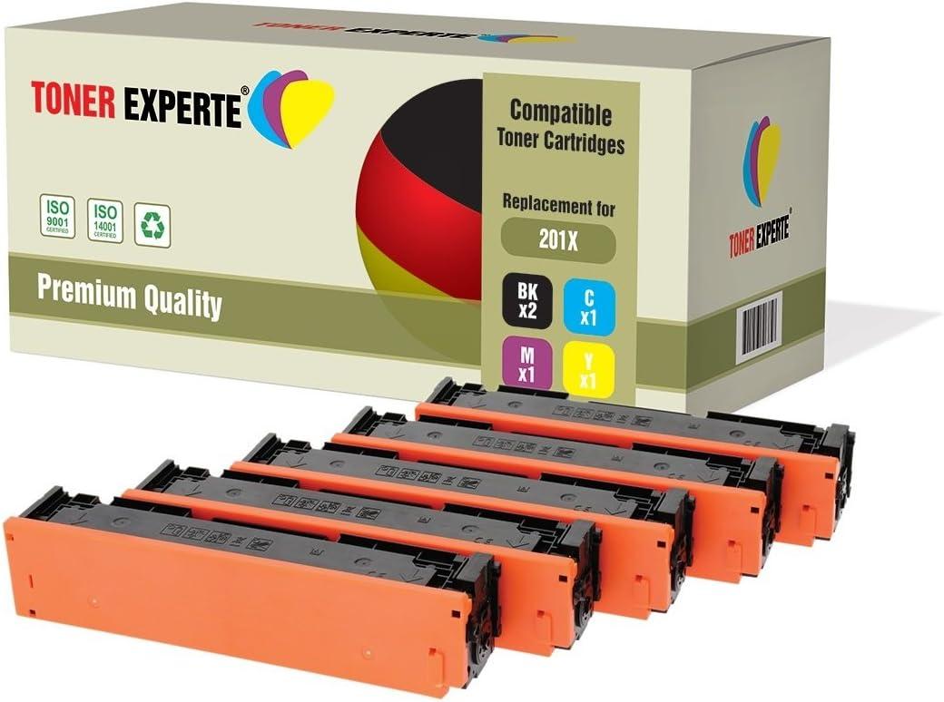TONER EXPERTE® 201X 5 Cartuchos de Tóner compatibles para HP Color ...