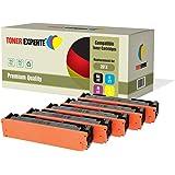 Pack 5 TONER EXPERTE® Compatibles CF400X CF401X CF402X CF403X / 201X Cartouches de Toner pour HP Color LaserJet Pro M252dw, M252n, MFP M277dw, MFP M277n