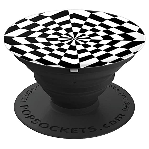 amazon com cool black and white design theme popsockets grip and