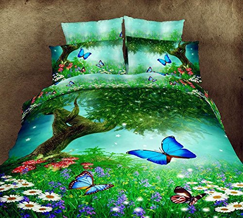 Spring Thick Growth Of Grass Color Butterfly 100 Cotton