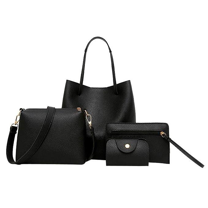 Amazon.com: Bolsas de mano Satchel para mujer, 4 piezas ...