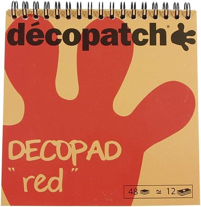 Bloc color Decopad 48 feuilles 15x15cm Rose Décopatch