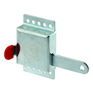 """Prime-Line 52118 Inside Deadlock – Heavy Duty Galvanized Steel Housing, Fits Most Garage Doors for Extra Protection as a Security Lock - 7/8"""" x 1/8"""", Steel"""