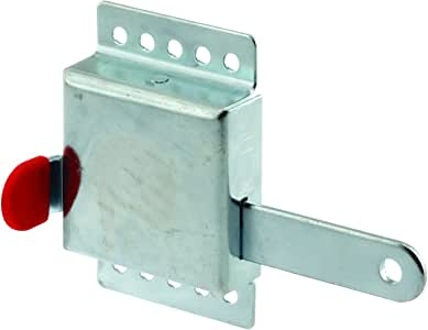 """Prime-Line GD 52118 Inside Deadlock – Heavy Duty Galvanized Housing, Fits Most Garage Doors for Extra Protection as a Security Lock-7/8 x 1/8"""", Steel"""