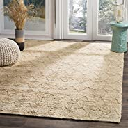 Safavieh ORG702A-8 Organic Collection Abstract Area Rug, 8' x 10', Light Be