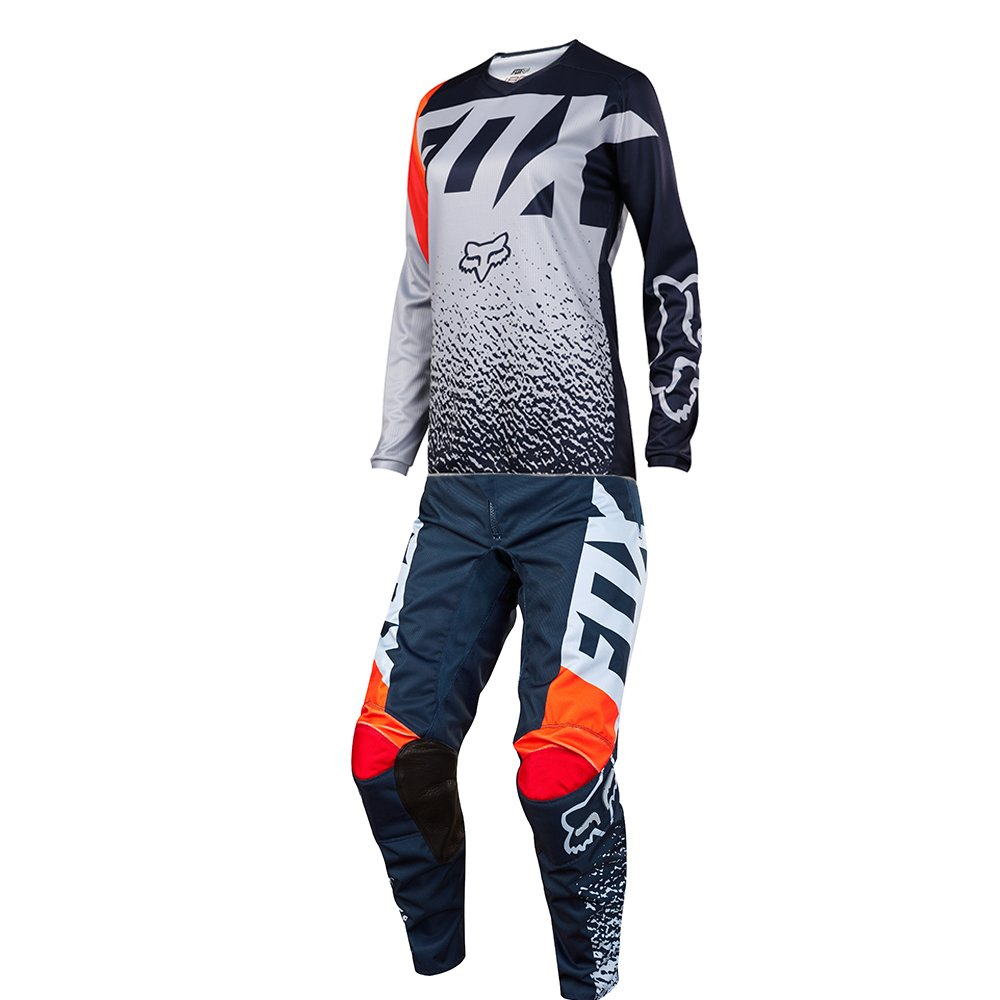 Fox Racing 180 Girls Grey & Orange Jersey/ Pant Youth Combo - Size Y-SMALL/ 22W