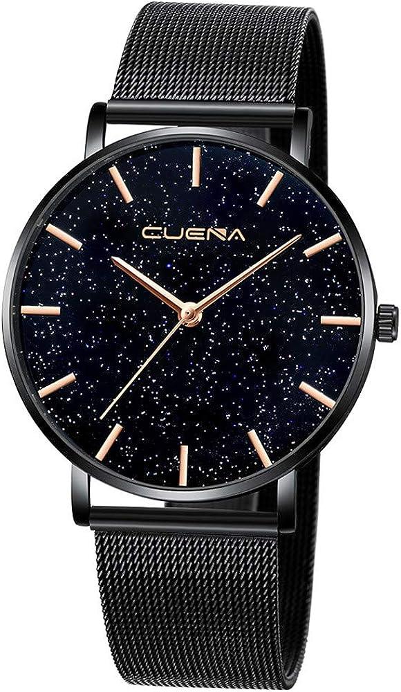 Reloj de Pulsera para Mujer de Acero Inoxidable con Malla de Cuarzo, Correa de Reloj de Pulsera Fina de Acero Inoxidable, analógico, Reloj de diseño Moderno para Regalo 2019 LEEDY