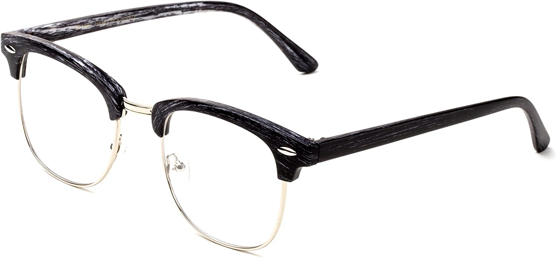 Newbee Fashion-Vintage Classic Half Frame Sime Frame Clear Lens Glasses Non Prescription Glasses Frame Men /& Women