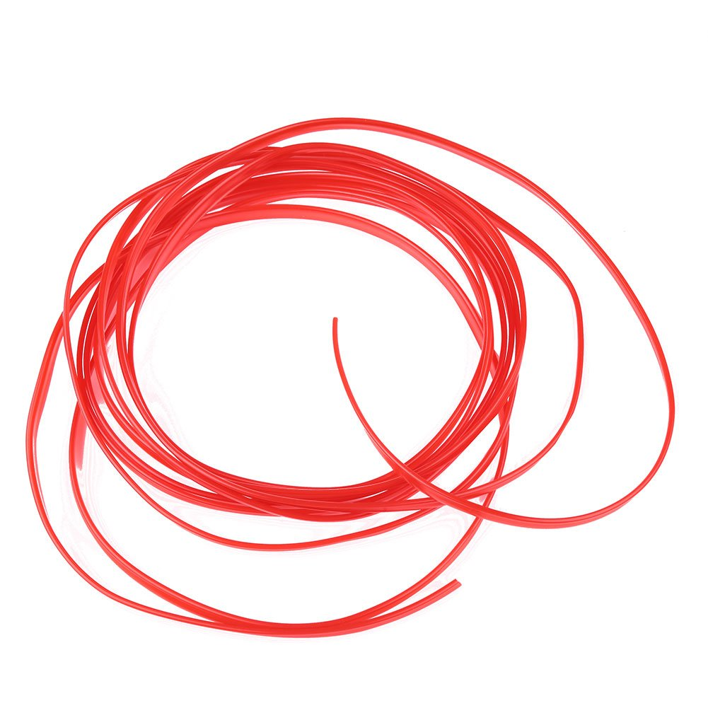 5m Voiture V/éhicule Style Bricolage int/érieur Flexible D/écoration moulure Garniture Strips/_Red ZZH Bande de Garniture int/érieure pour Voiture