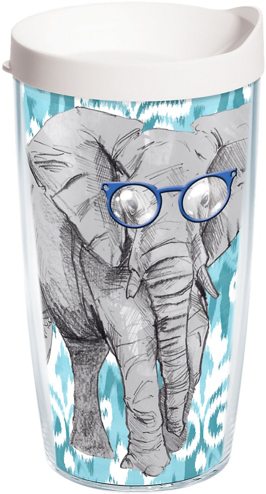 Tervis Tumbler Funky Animals Elephant with Frames Wrap 16oz with Travel Lid
