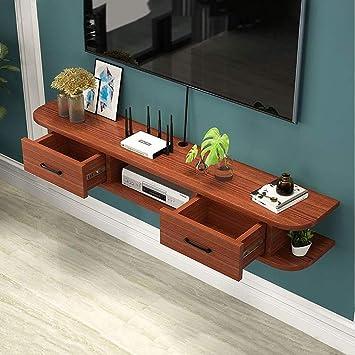 AFEO-soporte para televisor Estante de la Pared Estante Flotante Dormitorio Sala de Estar Mueble TV