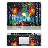 """Vati Leaves Removable Love in the Rain Protective Full Cover Vinyl Art Skin Decal Sticker Cover for Apple MacBook Air 13.3"""" inch (A1369/A1466)"""