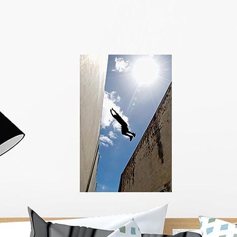 Amazon.com: Parkour practicante saltos Mural de construcción ...