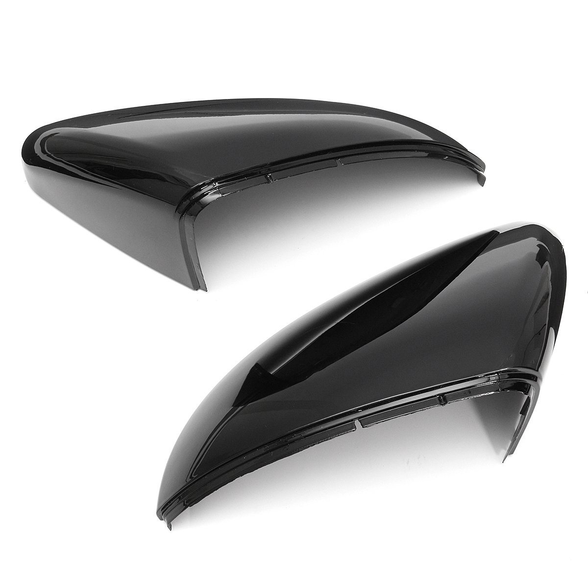 FeLiCia 2pcs 1 Pair Front Wing Mirror Cover Wing Case Rear View Mirror Case Cover For VW