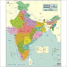 Amazon buy india map political 70 x 84 cm book online at low amazon buy india map political 70 x 84 cm book online at low prices in india india map political 70 x 84 cm reviews ratings gumiabroncs Gallery