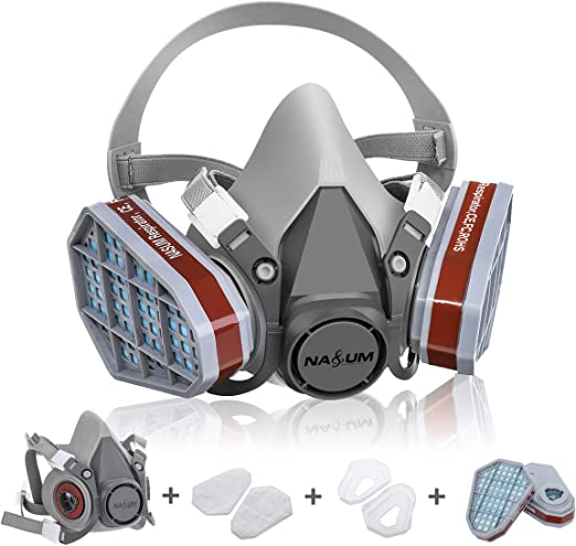 Work Nasum Particulate Dust Protection Polishing Mask grey For Paint Welding Mask Half Other Dust Machine Painting Respirator And