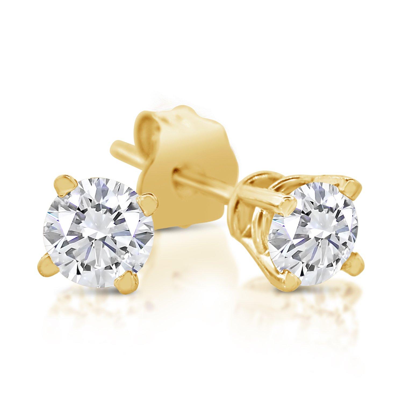 1/4ct tw Diamond Stud Earring in 14k Yellow Gold