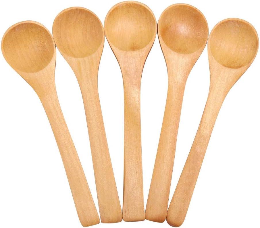 30pcs mini cucchiai di legno condimenti cucchiai di sale Cucchiaio di legno mestolo per bambini