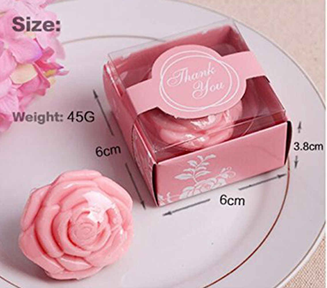 Amazon.com: AI·X·IANG AiXiAng 24 Pack Handmade Pink Rose Style Soap ...