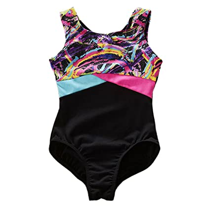 cbdc45dc80dd Amazon.com   Happy Cherry Kids Girls Sleeveless Dance Gymnastics ...