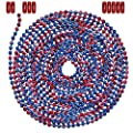 10 Foot Length Ball Chain, #6 Size, American Splash (Red, White, Blue), & 10 Connectors sourcing is Ball Chain Manufacturing Co., Inc.
