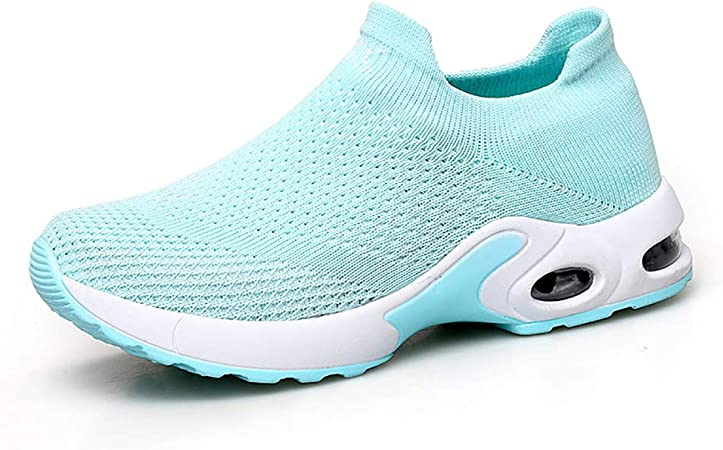 Zapato para Correr para Mujer Suela De Goma Transpirable + Amortiguador De Aire De Primavera Primavera Otoño Deportes Y Ocio Calzado De Mujer Estudiante Salvaje Marea Femenina,Green,39: Amazon.es: Hogar