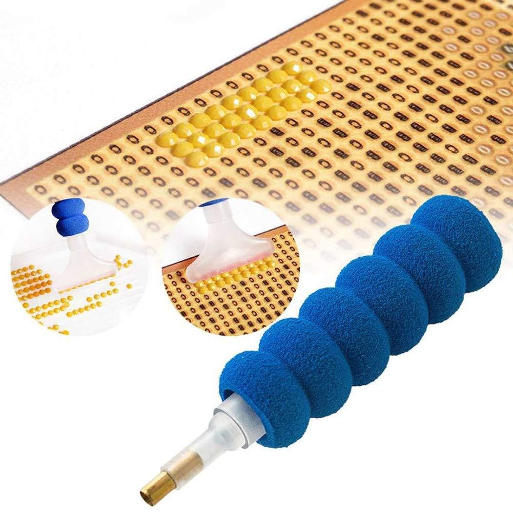 alignmentpai DIY 5D Diamond Painting Tools Kit Tweezers Drill Pen Plastic Tray Mud Set 5Pcs