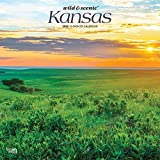 Kansas Wild & Scenic 2020 12 x 12 Inch Monthly Square Wall Calendar, USA United States of America Midwest State Nature (English, French and Spanish Edition)