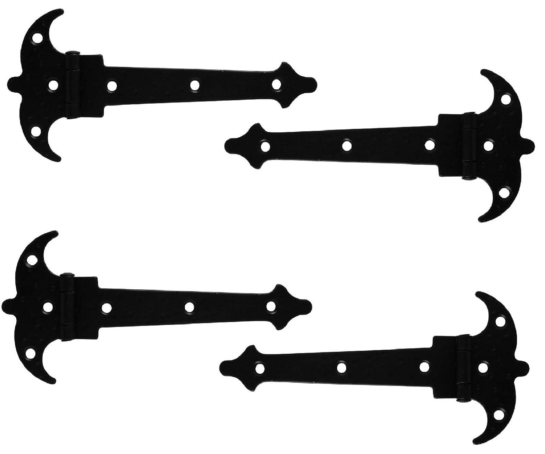 2 x Scharnier 195mm Zierscharniere M/öbelb/änder M/öbelscharniere schwarz matt Schmiedeeisen Optik