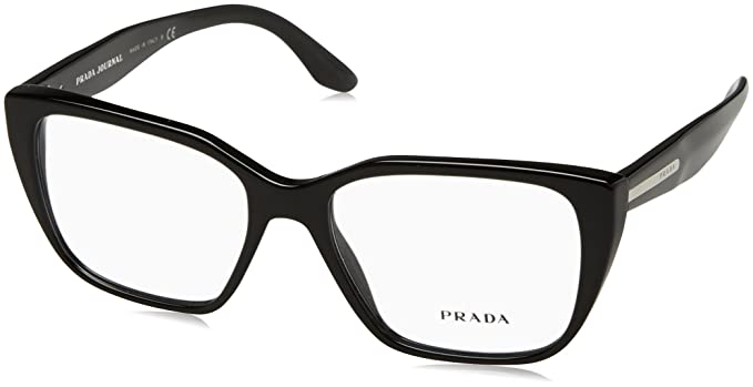 b3e5e55af77 Original New Prada PR 08TV 1AB-1O1 Black Frame Square Eyeglasses 53 ...