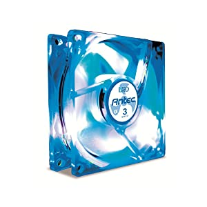 Antec TriCool 120mm Blue LED Cooling Fan with 3-Speed Switch