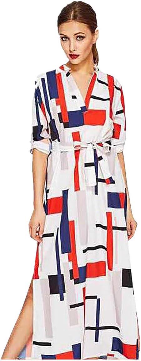 UOFOCO Summer Dress Maxi...