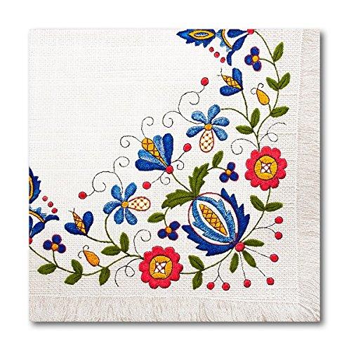 Pad Decoupage (Polish Folk Art Kashubian Embroidery Luncheon Napkins, Set of 20)
