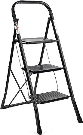 330 lbs Capacity Practical Anti-Slip Aluminum 3 Step Stool Ladder with Handgrip