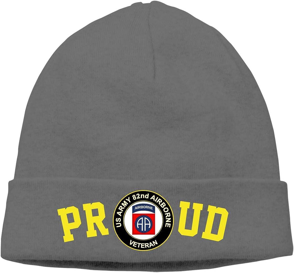 FORDSAN CP Proud US Army Veteran 82nd Airborne Mens Beanie Cap Skull Cap Winter Warm Knitting Hats.
