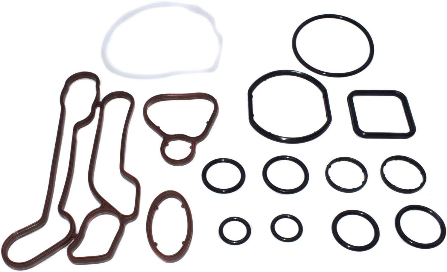 Engine Oil Cooler Gaskets Seals Kit for Chevrolet Cruze Sonic Aveo Pontiac G3