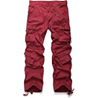 Addt Must Way Men's Cotton Casual Military Army Cargo Camo Combat Work Pants With 8 Pocket